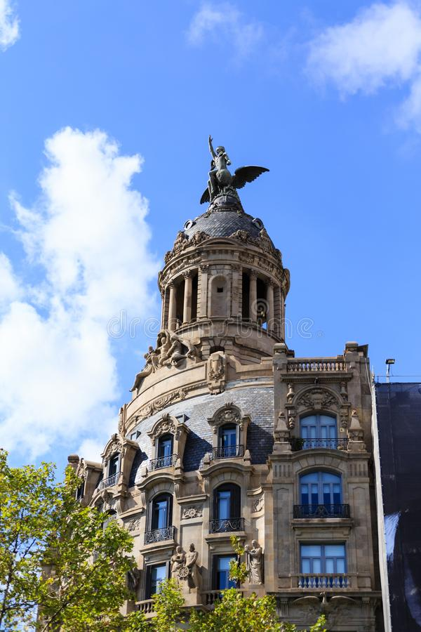 Passeig Gracia i Barcelona royaltyfri foto