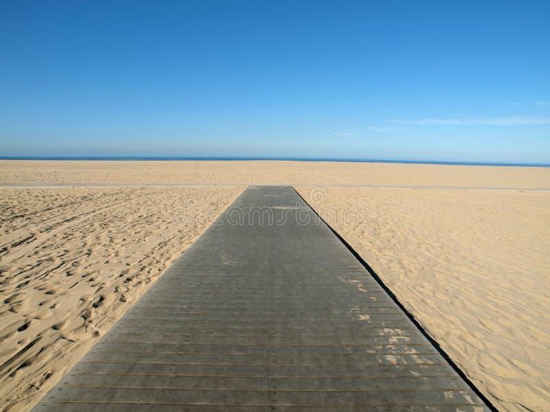 Passeio à beira mar da praia imagem de stock royalty free
