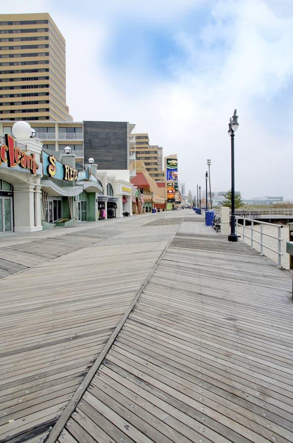 Passeio à beira mar de Atlantic City fotos de stock royalty free