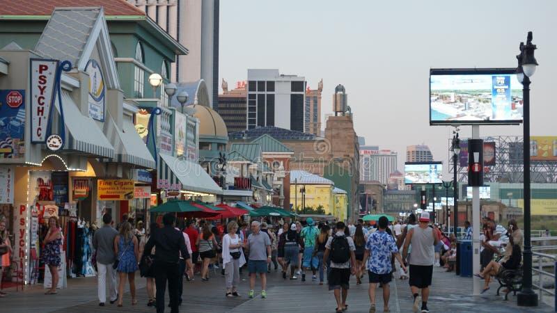 Passeio à beira mar de Atlantic City em New-jersey foto de stock royalty free