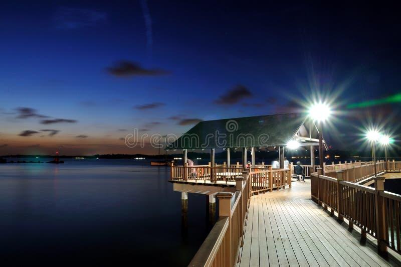 Passeio à beira mar de Changi, caminhada de Kelong fotografia de stock royalty free