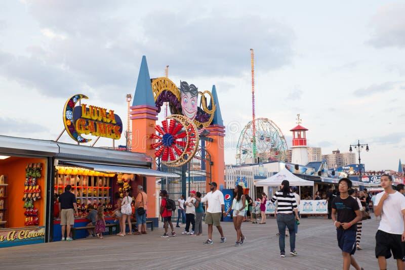 Passeio à beira mar de Coney Island foto de stock royalty free