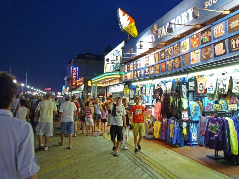Passeio à beira mar de Maryland da cidade do oceano foto de stock royalty free