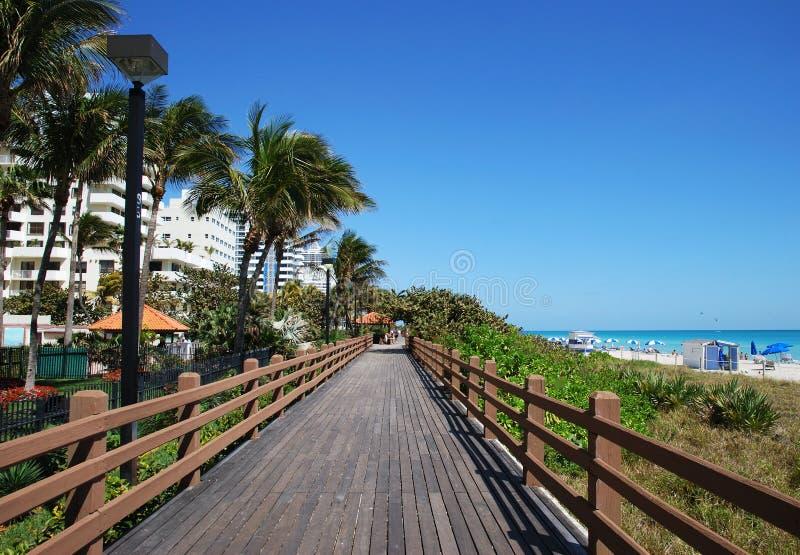 Passeio à beira mar de Miami foto de stock