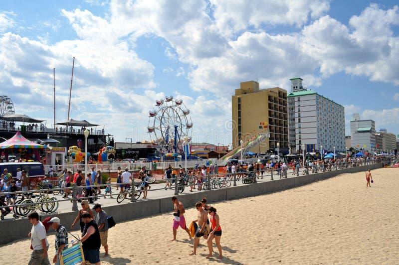 Passeio à beira mar de Virginia Beach foto de stock royalty free