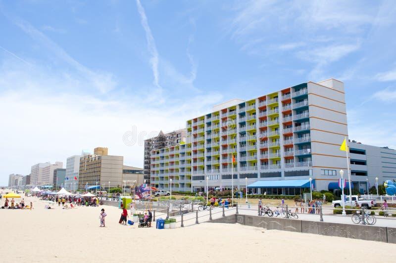 Passeio à beira mar de Virginia Beach imagem de stock royalty free