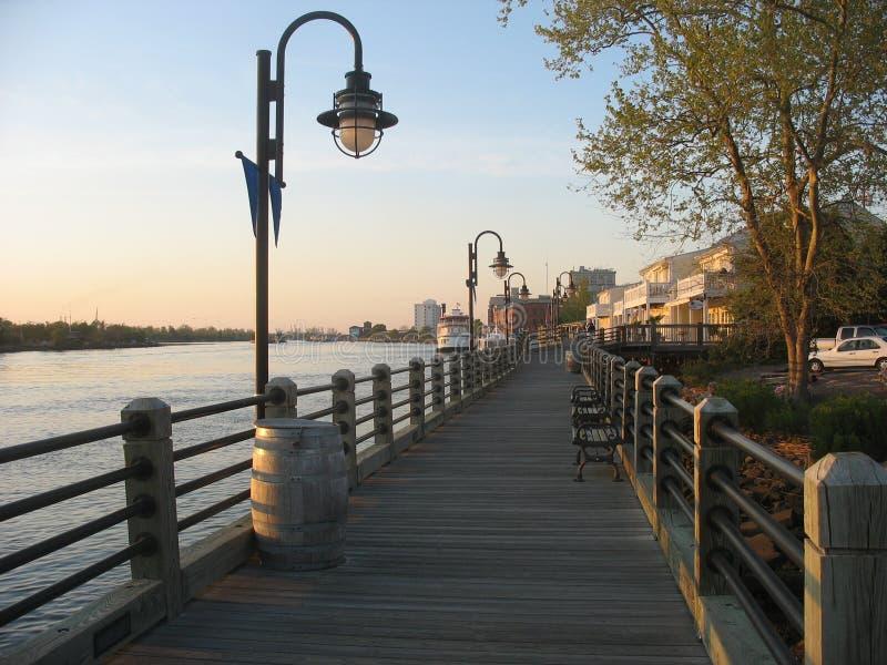 Passeio à beira mar de Wilmington NC imagem de stock royalty free