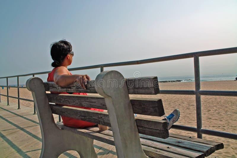 Passeio à beira mar do parque de Asbury, New-jersey EUA imagem de stock royalty free