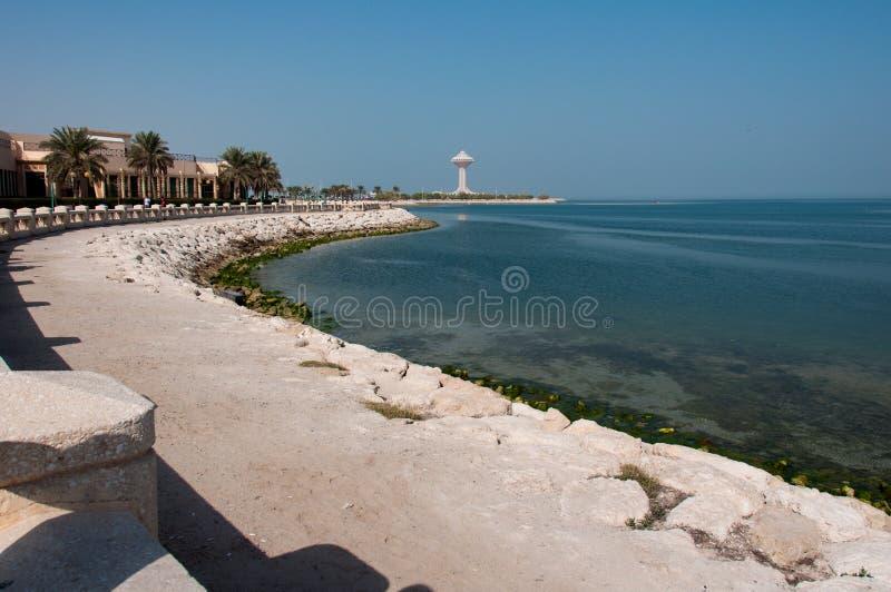 Passeio à beira mar em Al Khobar, Arábia Saudita imagens de stock royalty free