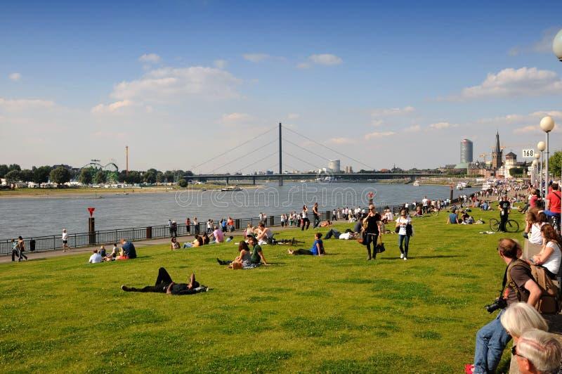 Passeio ao longo do Rhine imagem de stock royalty free