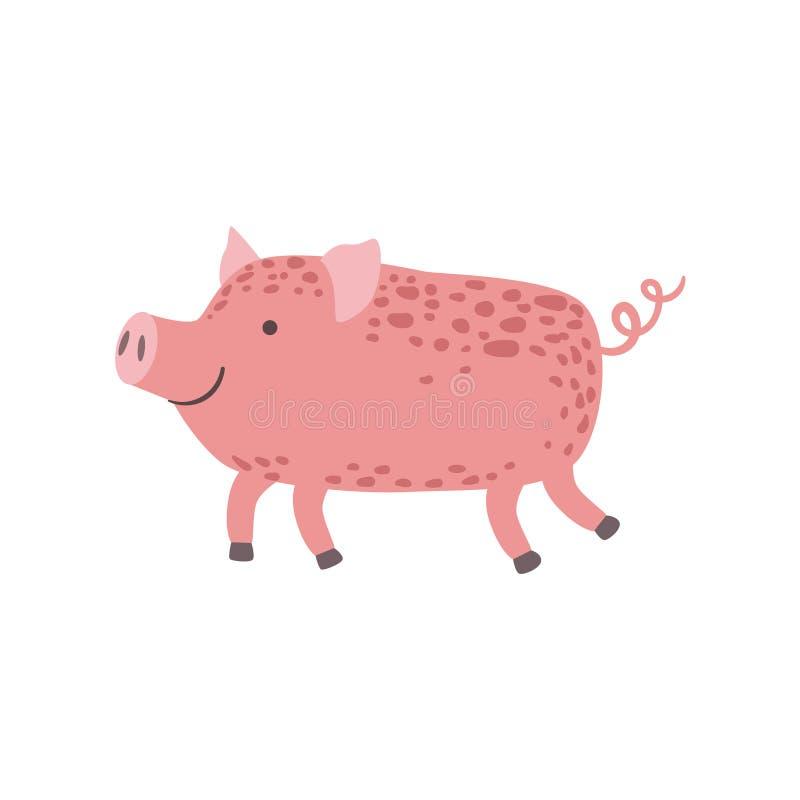 Passeio cor-de-rosa do leitão ilustração royalty free