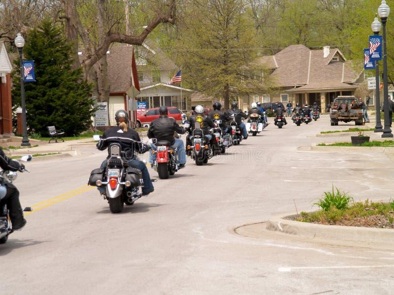 Passeio da caridade da motocicleta fotos de stock royalty free