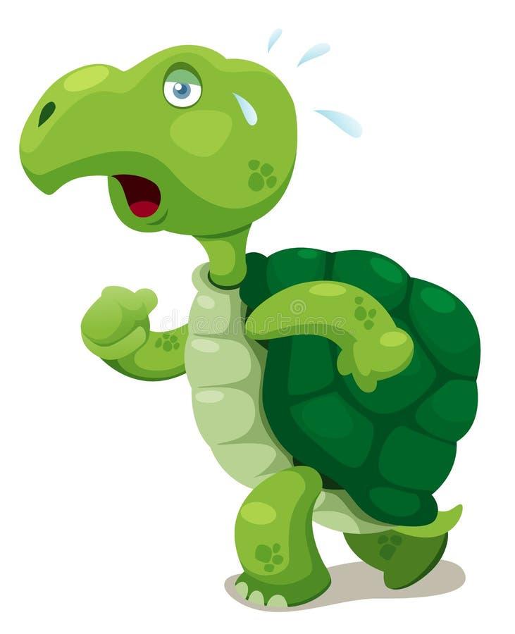 Passeio da tartaruga ilustração royalty free
