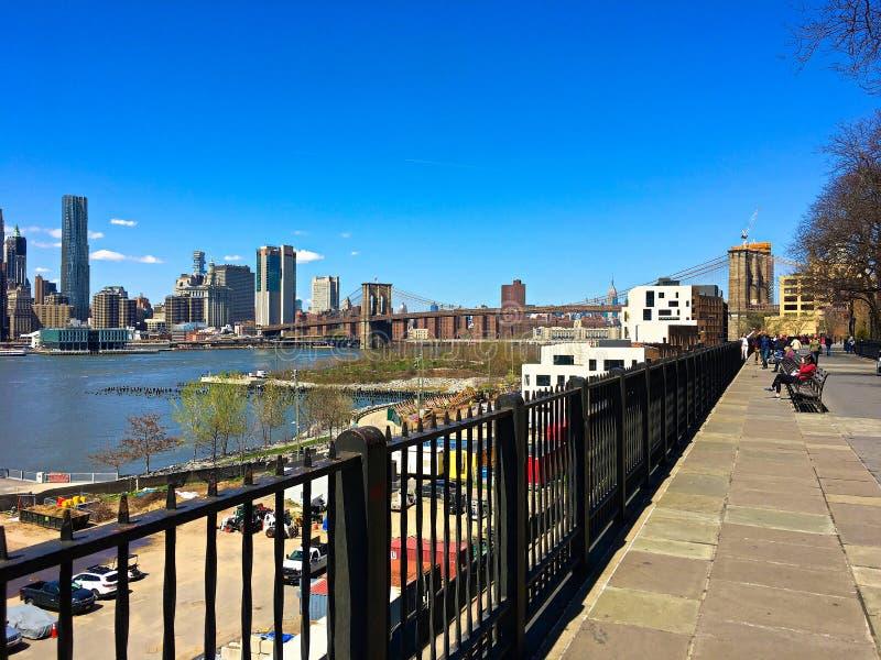 Passeio de Brooklyn Heights, Brooklyn, New York fotografia de stock