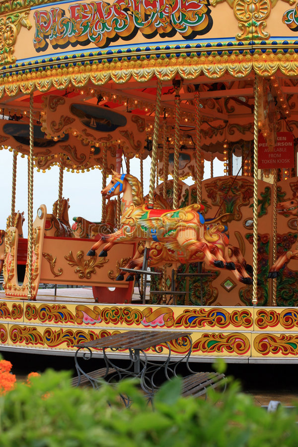 Passeio de Carousell foto de stock royalty free