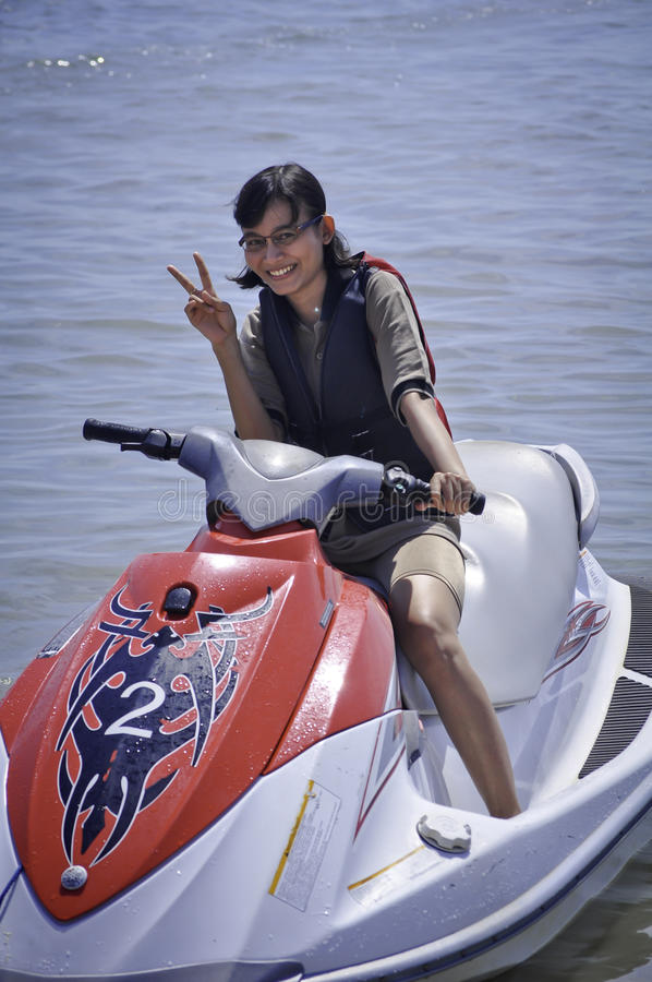 Passeio de Jetski em Bali foto de stock royalty free