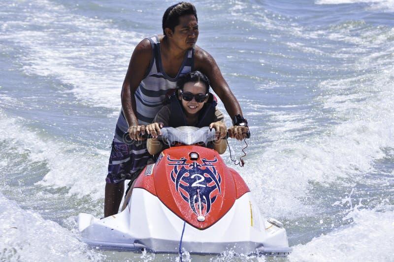 Passeio de Jetski em Bali imagem de stock