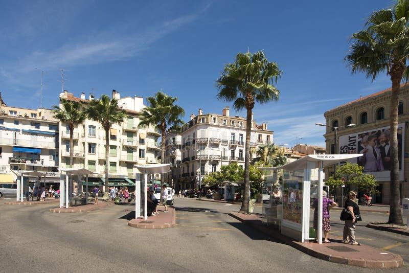 Passeio de la Pantiero, Cannes, França foto de stock royalty free