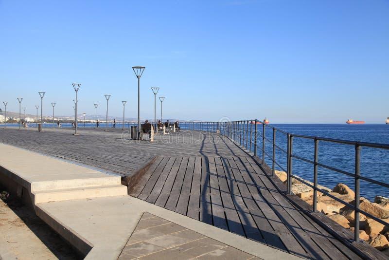 Passeio de Molos, Limassol, Chipre imagem de stock royalty free