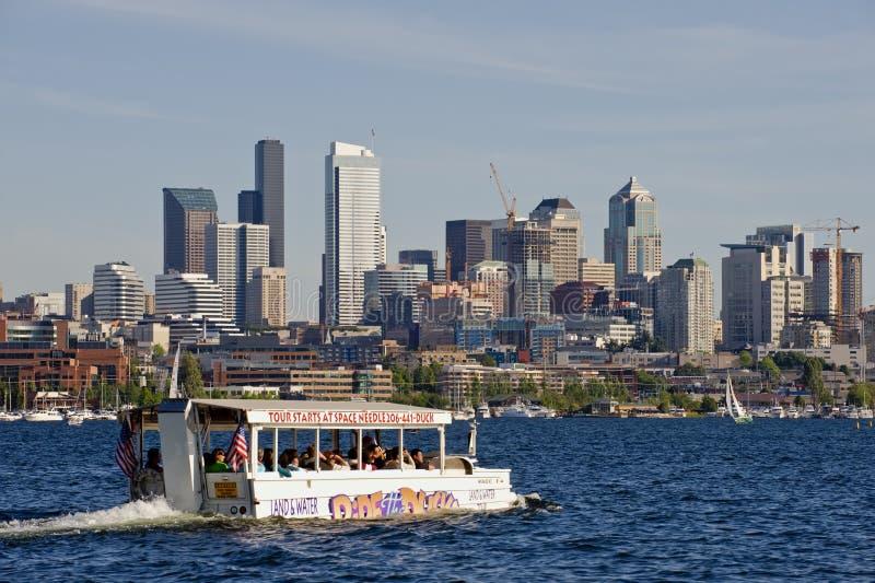 Passeio de Seattle os patos fotos de stock royalty free