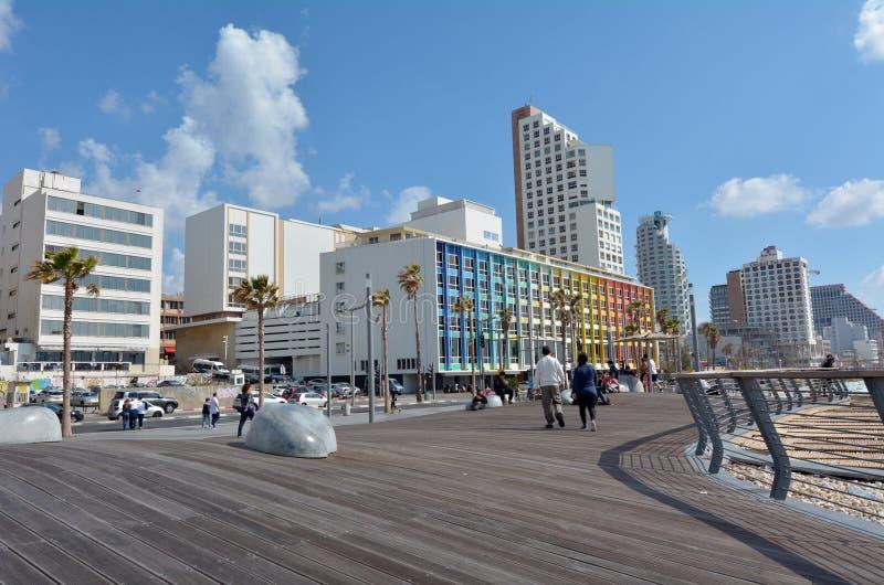 Passeio de Tel Aviv no telefone Aviv Israel imagem de stock royalty free