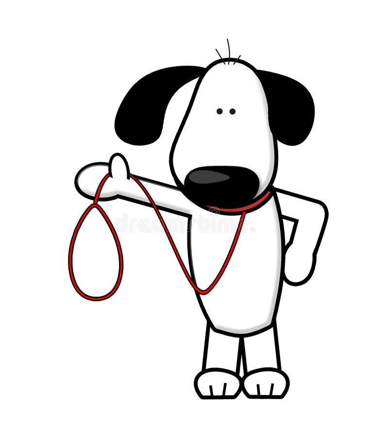 Passeio do cão ilustração royalty free
