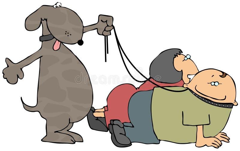 Passeio do cão ilustração do vetor