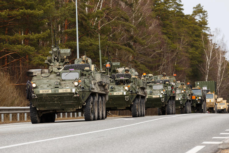 Passeio do Dragoon do exército dos EUA fotos de stock