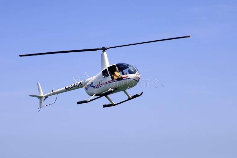 Passeio do helicóptero do turista em Atlantic City, New-jersey imagens de stock