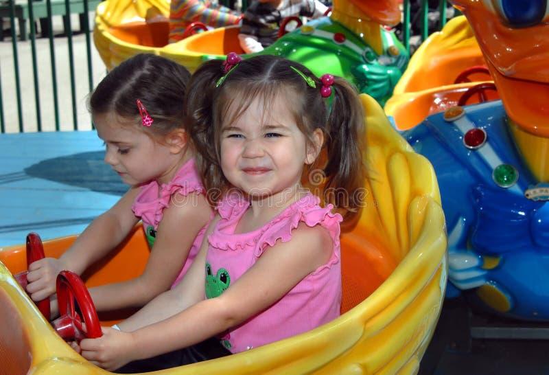 Passeio do Kiddie do carnaval imagens de stock royalty free