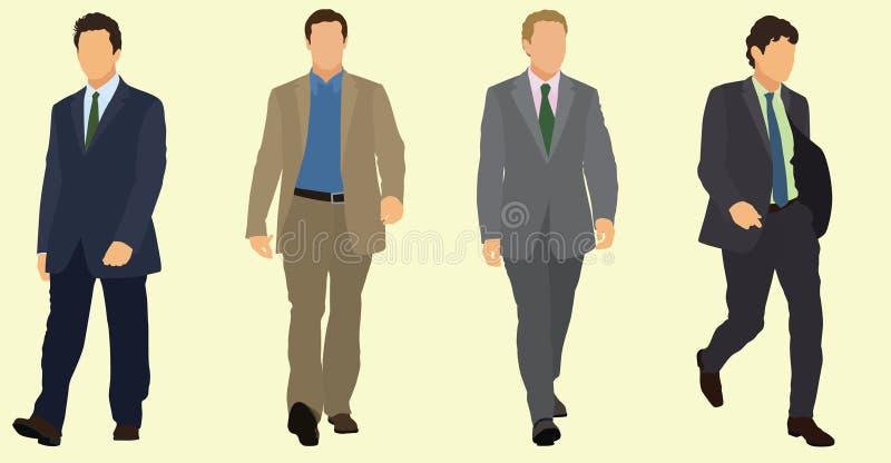 Passeio dos homens de negócios ilustração do vetor