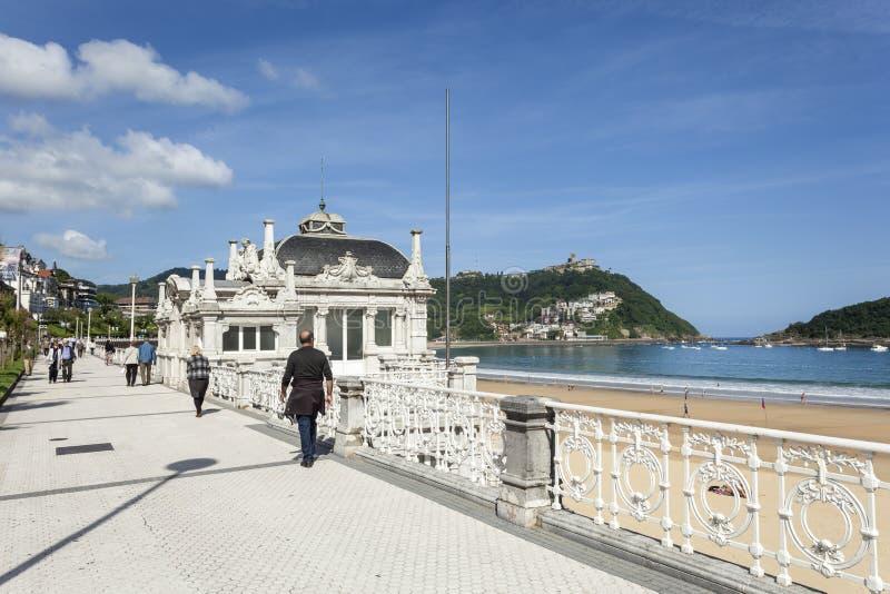 Passeio em San Sebastian, Espanha fotos de stock royalty free
