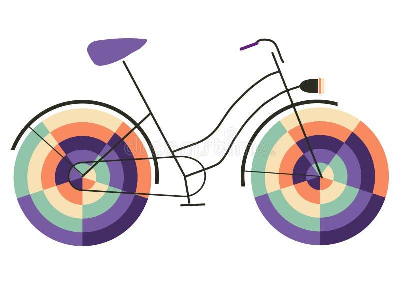 Passeio engraçado na bicicleta feliz ilustração royalty free
