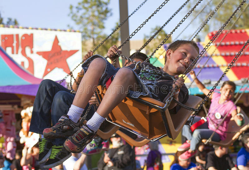 Passeio justo do carnaval das crianças do estado do Arizona fotos de stock