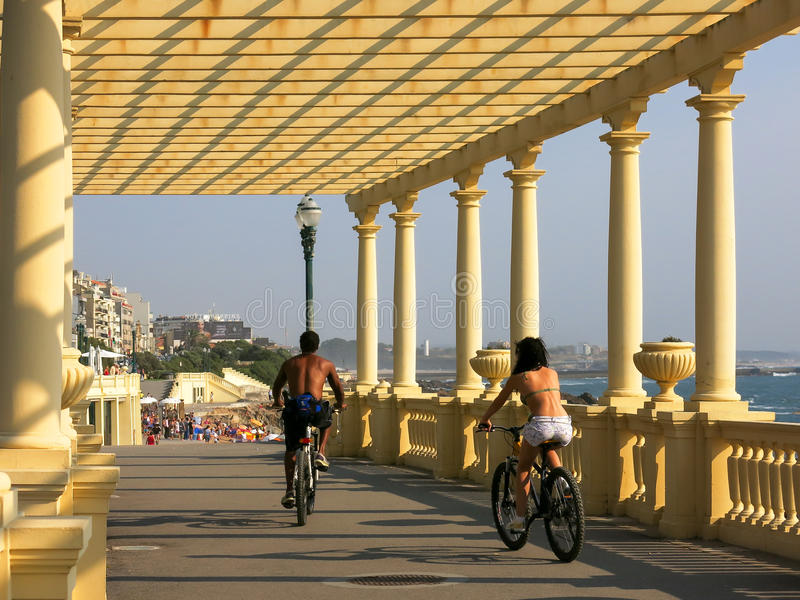 Passeio Maritimo, Foz font Douro au Portugal photo libre de droits