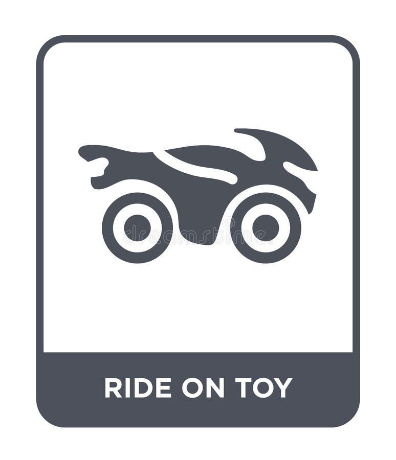 passeio no ícone do brinquedo no estilo na moda do projeto passeio no ícone do brinquedo isolado no fundo branco passeio no ícone ilustração do vetor