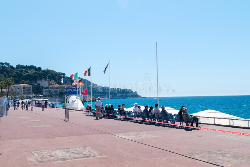 Passeio no mar Mediterrâneo em agradável no dia ensolarado fotos de stock