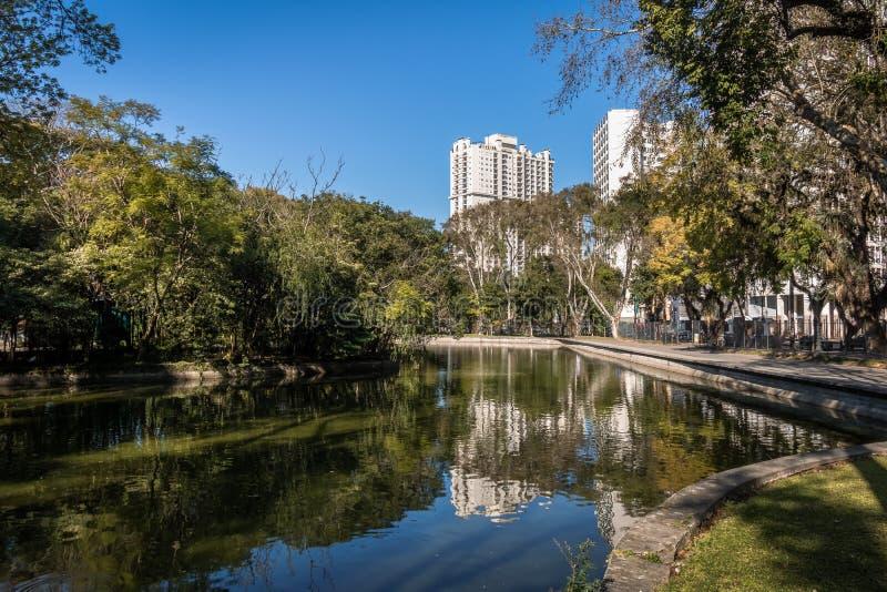 Passeio Publico parkerar - Curitiba, Parana, Brasilien arkivfoto