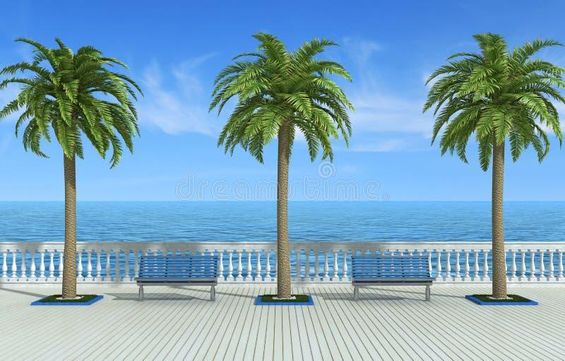 Passeio tropical ilustração stock