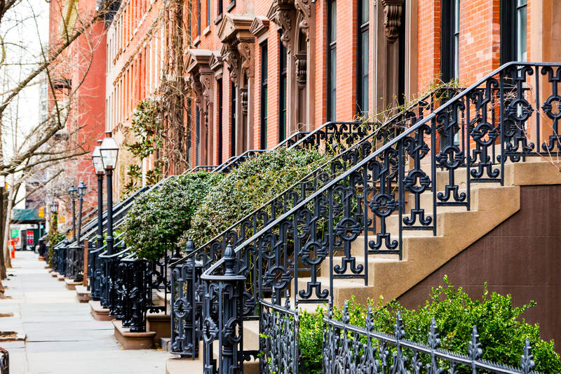 Passeio vazio no Greenwich Village em New York City imagens de stock royalty free