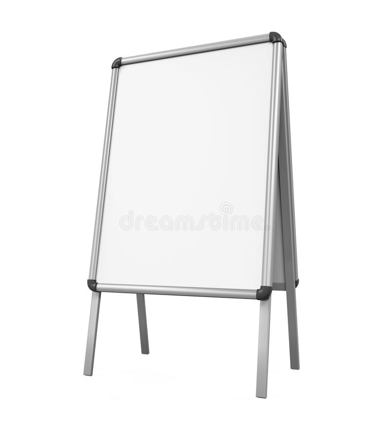 Passeio Whiteboard vazio ilustração royalty free