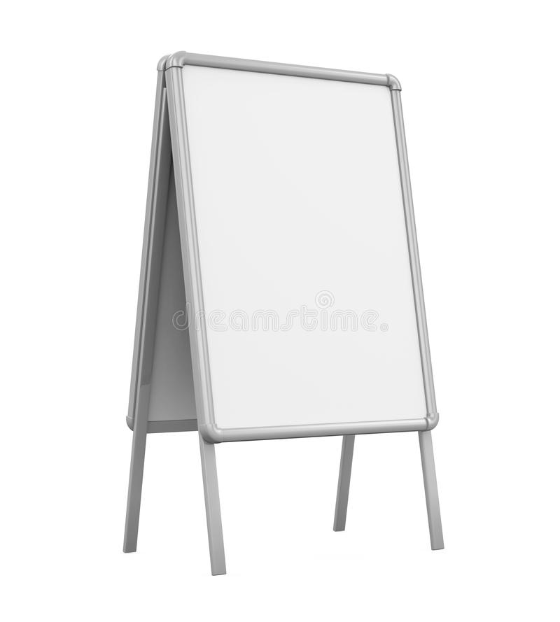 Passeio Whiteboard vazio ilustração do vetor
