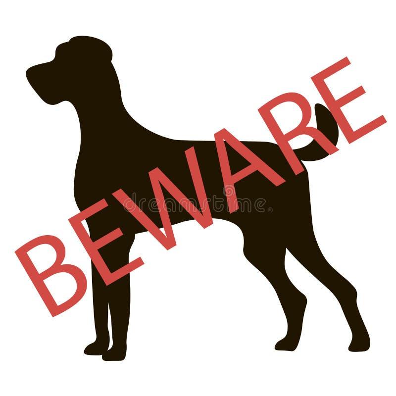 Passen Sie Hundezeichen auf Vektor lizenzfreie abbildung