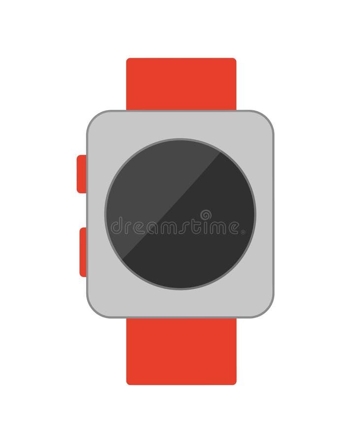 Passen Sie mit Knopf-Plakat-Vektor-Illustration auf lizenzfreie abbildung