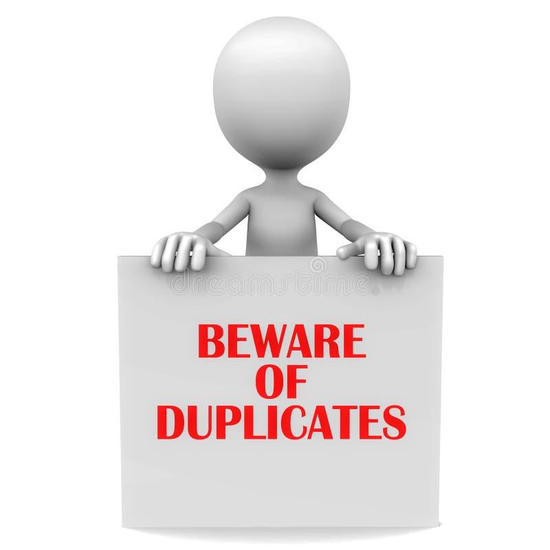 Passen Sie vom Duplikat auf stock abbildung