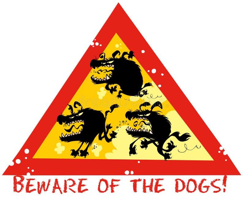 Passen Sie von den Hunden auf vektor abbildung