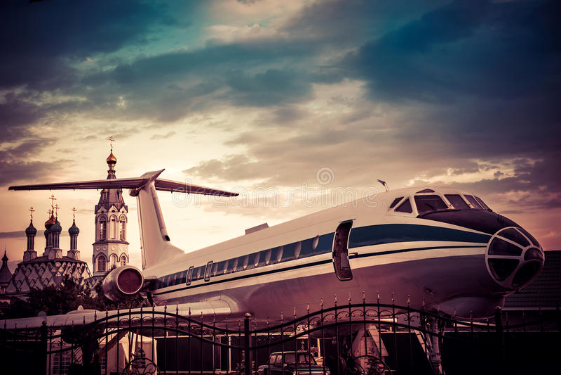 Passenger aircraft stock photo