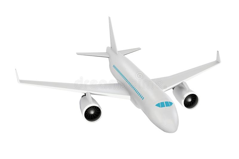 Passenger aircraft. Realistic 3d rendered model vector illustration