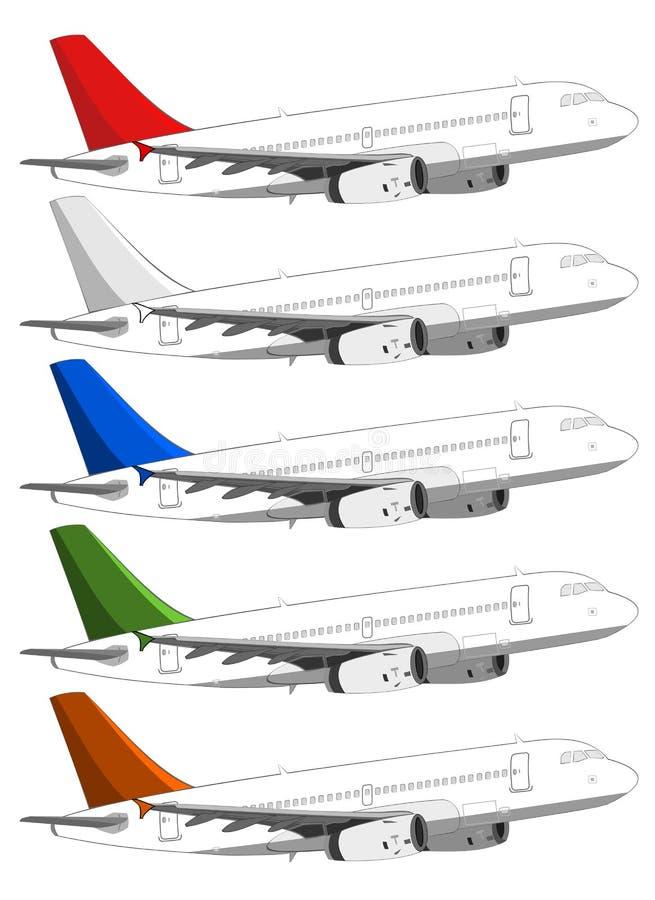 Download Passenger Aircrafts stock illustration. Image of travel - 28931635