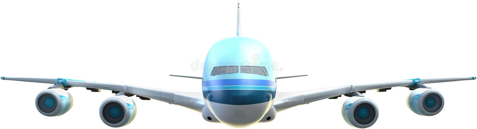 Passenger Airline Jet, Airplane, Isolated. Flying passenger airline jet. The airliner plane is isolated on white, PNG file available royalty free stock photos